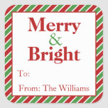 Personalised Christmas Holiday Gift Tag Stickers