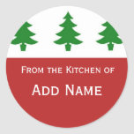 Personalised Christmas Kitchen Gift Sticker