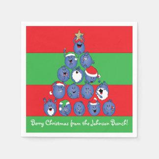 "Personalised Christmas Napkins ""Berry Christmas"" Paper Napkin"