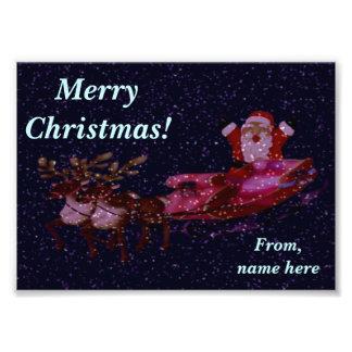 Personalised Christmas Photo Greeting with Santa