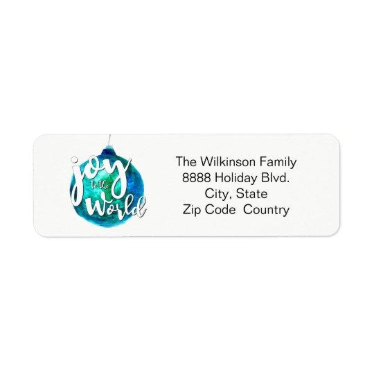Personalised, Christmas, Photo, watercolor, script Return Address Label