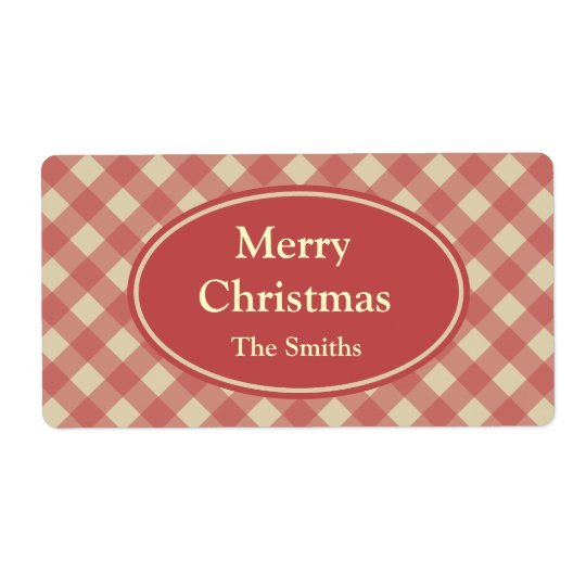 Personalised Christmas Red Holiday Labels