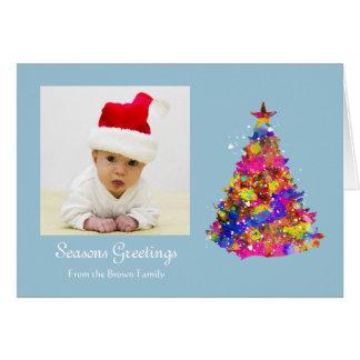 Personalised Christmas Tree Photo Portrait Greeting Card
