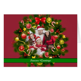 Personalised Christmas Wreath Photo Card