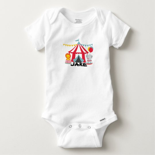 Personalised Circus Theme Birthday Baby Body Suit Baby