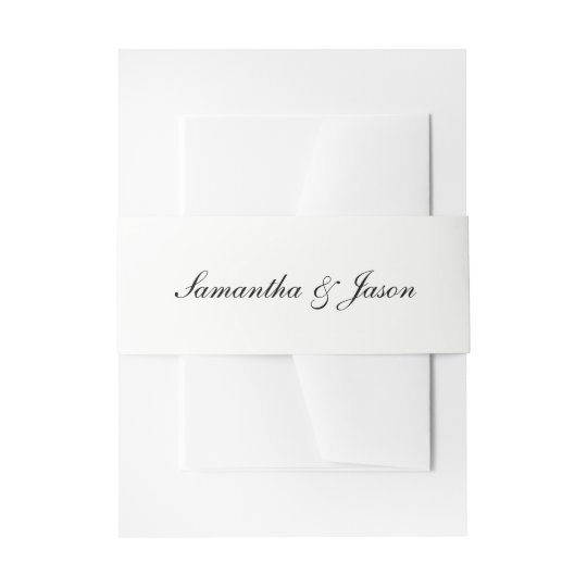 Personalised Classic Wedding Script Invitation Belly Band