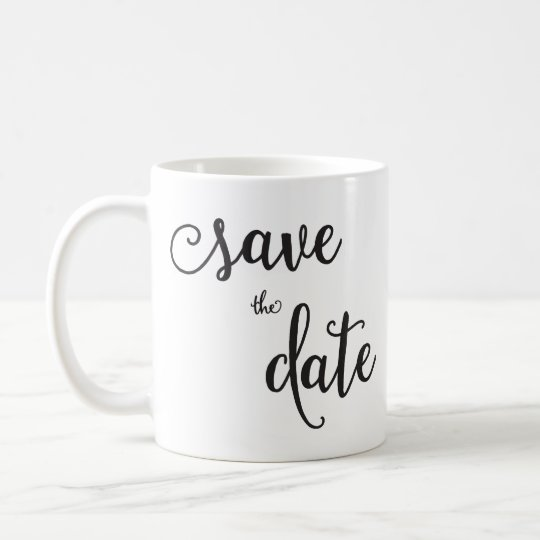 Personalised Classic White Save The Date Mug