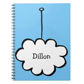 Personalised Cloud on a String Spiral Notebook