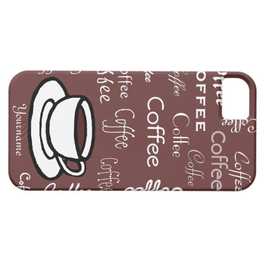 Personalised Coffee and Coffee Cup iPhone 5 Cover