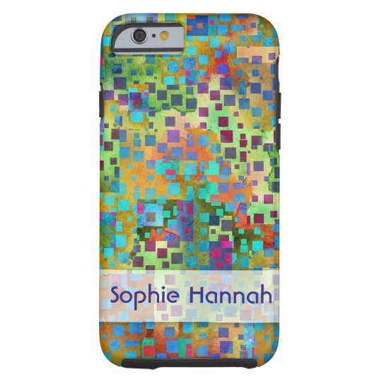 Personalised, Colourful Abstract Art Confetti Tough iPhone 6 Case