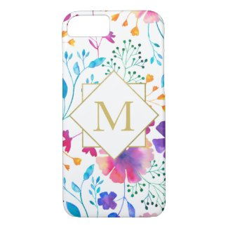 Personalised Colourful Floral Pattern Phone Case
