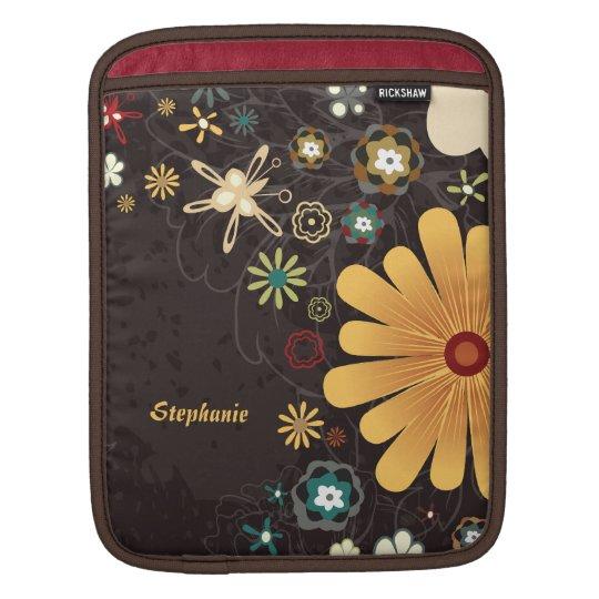 Personalised colourful floral rickshaw ipad sleeve