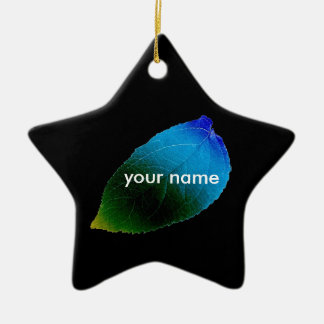 Personalised Colourful Leaf Ceramic Star Decoration