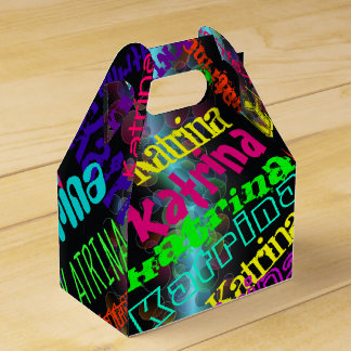 Personalised  Colourful Neon Lights Favour Box