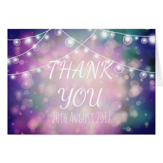 Personalised, colourful Wedding Thank You Card