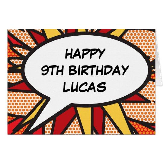 Personalised Comic Book Pop Art HAPPY BIRTHDAY Card