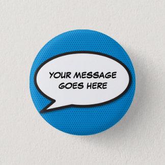 Personalised Comic Book Pop Art Speech Bubble 3 Cm Round Badge