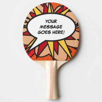 Personalised Comic Book Pop Art Speech Bubble Ping Pong Paddle