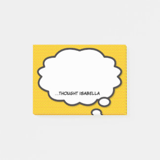 Personalised Comic Book Pop Art Think Bubble Post-it Notes
