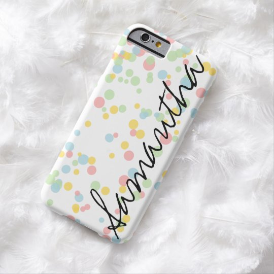 Personalised confetti dot pattern iPhone 6 case
