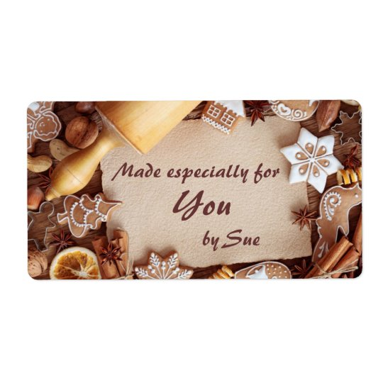 Personalised Cookie Gift Labels