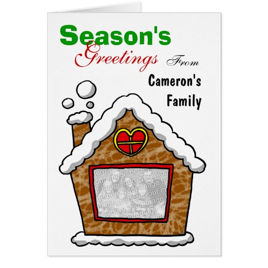 Personalised cookie house Christmas Card