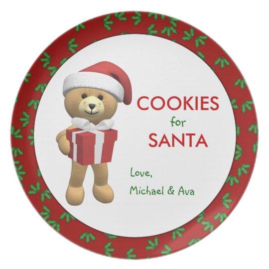 Personalised Cookies for Santa Plate