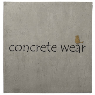 Personalised Cool Concrete Wear Urban Bird Cloth Napkin