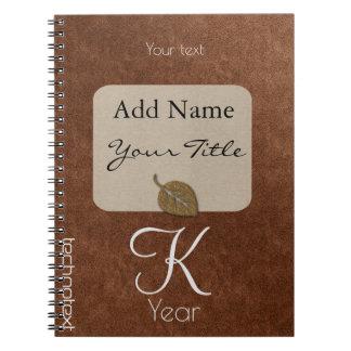Personalised Cool Copper School Kids Notebooks