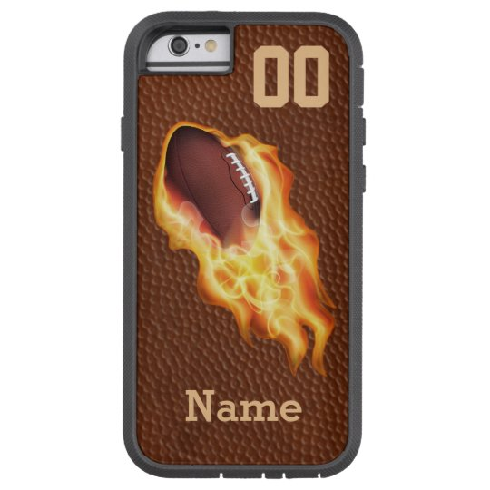 Personalised Cool Flaming Football iPhone 6 Case