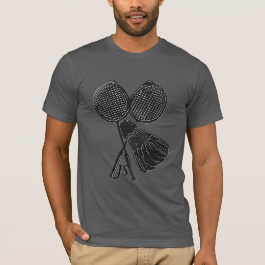 Personalised Cool Gift for Badminton Players T-Shirt