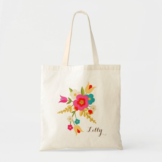 Personalised | Country Flowers Easter Tote