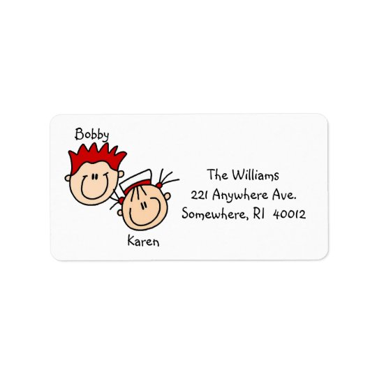 Personalised Couple Address Labels