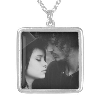 Personalised Couple Photo Charm Necklace