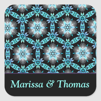 Personalised couple Square Stickers