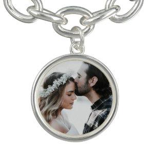 Personalised Couple's Photo Charm Bracelet