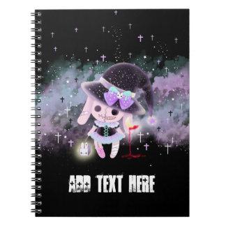 Personalised - Creepy cute hunter devil bunny Spiral Note Books
