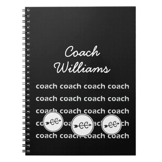 Personalised Cross Country Running Coach Spiral Notebook