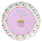 Personalised Cupcake Birthday Plate