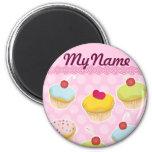 Personalised Cupcakes 6 Cm Round Magnet