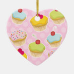 Personalised Cupcakes Christmas Ornaments