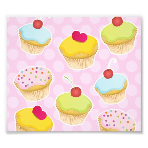 Personalised Cupcakes Photo Art