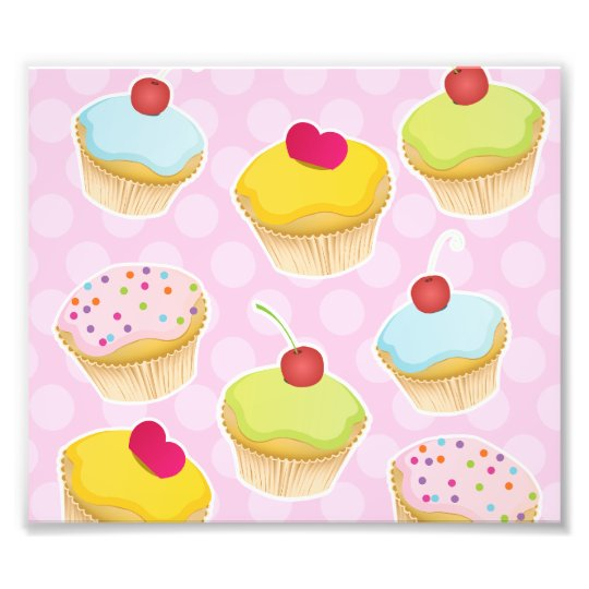 Personalised Cupcakes Photo Art