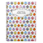 Personalised Cupcakes Spiral Bound Notebook