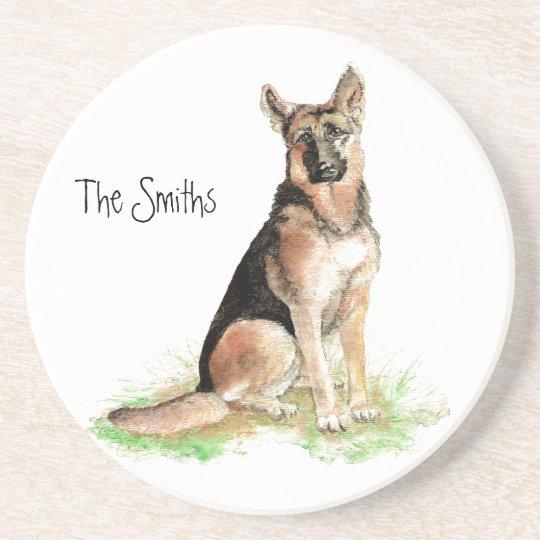 Personalised Custom German Shepherd Coaster