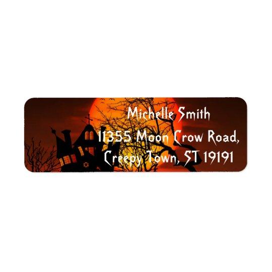 Personalised Custom Halloween Return Address Label