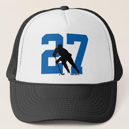 Personalised Custom Hockey Player Number Trucker Hat