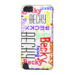 Personalised Custom Name Collage Colourful iPod Touch (5th Generation) Cover