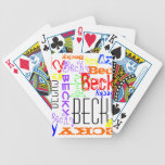Personalised Custom Name Collage Colourful Bicycle Poker Cards