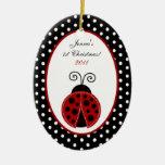 Personalised Custom Ornament Red Ladybug